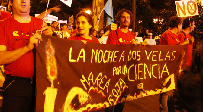 Repeated research protests on the streets of Madrid